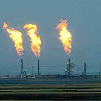 Quemando gas
